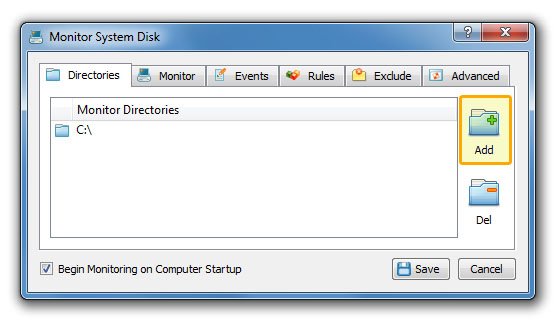 DiskPulse Server Monitor Directories